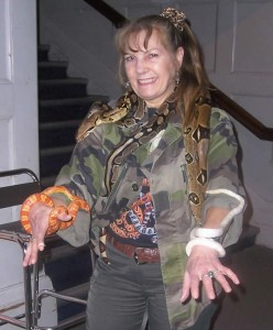 Sue covered in Snakes again - Many childrens entertainers in one go!
