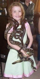 Birthday Girl with Snakes